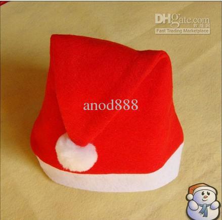 Envío gratis- / Papá Noel rojo sombreros de Navidad sombreros de navidad de alta calidad hermosos y exquisitos sombreros de navidad