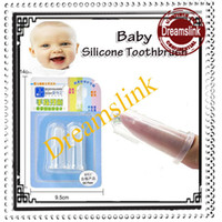 Wholesale Silicone baby toothbrush baby care bay safe food grade finger toothbrush YS002
