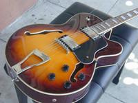 çin gitar dükkanı toptan satış-Özel Mağazalar L-5 Caz Gitar Sunburst L5 Elektro Gitar çin'den toptan gitar