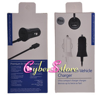 Wholesale Premium in Vehicle A Micro USB Cable Car Charger For iphone Ipad Samsung Galaxy S3 S4 HTC Cellphone phone