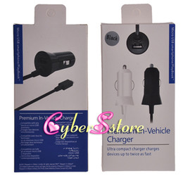 Wholesale Ipad Chargers Usb Cable - Premium in Vehicle 2A Micro USB Cable Car Charger For iphone Ipad Samsung Galaxy S3 S4 HTC Cellphone phone