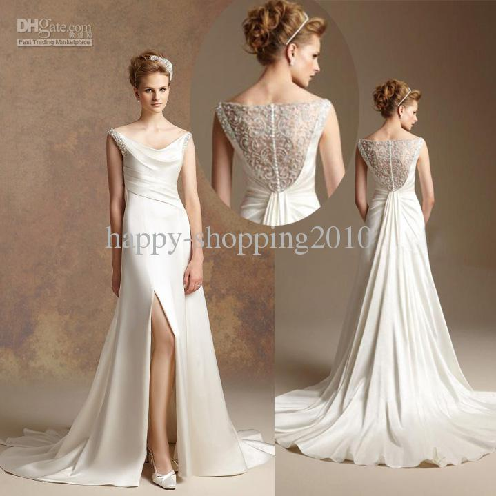 Jasmine Wedding Gowns: 2014 Jasmine Couture Wedding Dresses Satin With Beaded