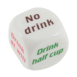 Wholesale Pub Games - Party Drink Decider Dice Games Pub Bar Fun Die Toy Gift KTV Bar Game Drinking Dice 2.5cm 100pcs