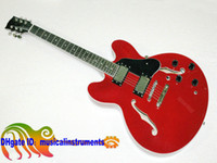 Wholesale Hollow Body Jazz Guitars - Sales promotion Custom Shop 335 Electric Guitar RED Jazz guitars guitars from china