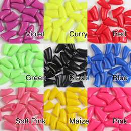 Wholesale Dog Nail Covers - Pet Nail Cap Cover Cat Dog Paw Claw Control Silicone Scratch Stopper 20 PCS 3 size you choose color and size