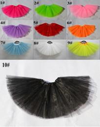 Wholesale Dance Petti Skirt - Girls skirt Ballet dance skirt pleat skirt tutu petti skirt Cake skirt Multilayer gauze skirt Children's skirt fashion skirt 10pcs lot