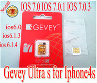 Wholesale Newnest Gevey ultra s sim card Support ios7 ios ios IOS IOS unlock sim card for iphone4s