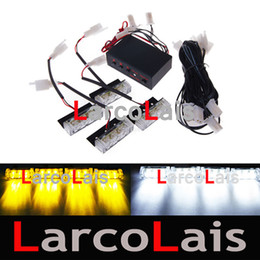 Wholesale Fire Red Flash - 10pcs 4 x 3 LED Strobe Lights & Fire Flashing Blinking Emergency Recovery Security Light DLCL8610