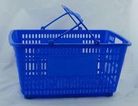 металлический супермаркет оптовых-Высококачественная горячая распродажа PPS + METAL Корзина для супермаркетов