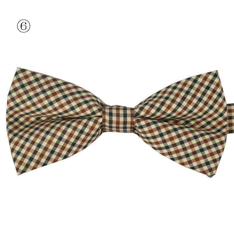 High quality Men's Cotton geometric Design Bow ties Men Vintage Wedding party pre-tie Bow tie
