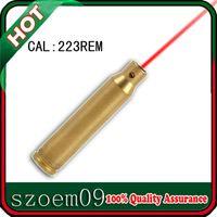 cartucho laser calibre bighterighter al por mayor-223 Rem Cartridge Laser Bore Sighter Boresighter Red Dot 5.56x45mm Para Rifle Caza al aire libre Laser Bore Sighter