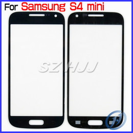 Wholesale Lcd S4 Black - Black and White Touch Screen LCD Cover Front Glass Screen Lens Replacement For Samsung Galaxy S4 Mini i9190