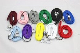 Wholesale Green Ego Necklace - Good quality colourful eGo necklace nice EGO-T lanyard Strap Hang Rope Sling with Steel Ring for EGO-t ego-w ego Battery