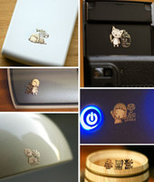 Wholesale Filter Wave - Free Ship 300pcs 3D Cartoon Cell phone Anti Radiation Sticker 24k Gold Plating Sticker Electromagnetic Waves filter for computer iPhone 4S 5