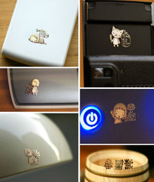 Wholesale Electromagnetic Radiation - Free Ship 300pcs 3D Cartoon Cell phone Anti Radiation Sticker 24k Gold Plating Sticker Electromagnetic Waves filter for computer iPhone 4S 5