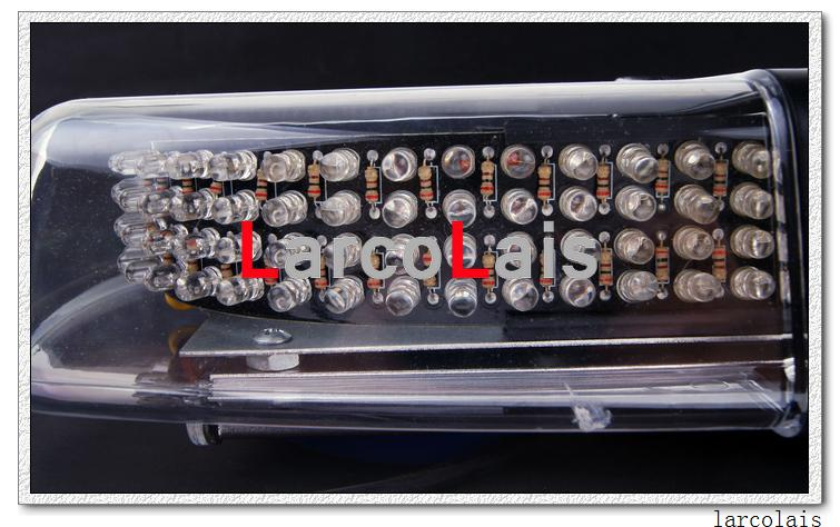 30st 240 LED bil auto tak flash strob magneter akut ems ljus skal blinkande ljus gult vit