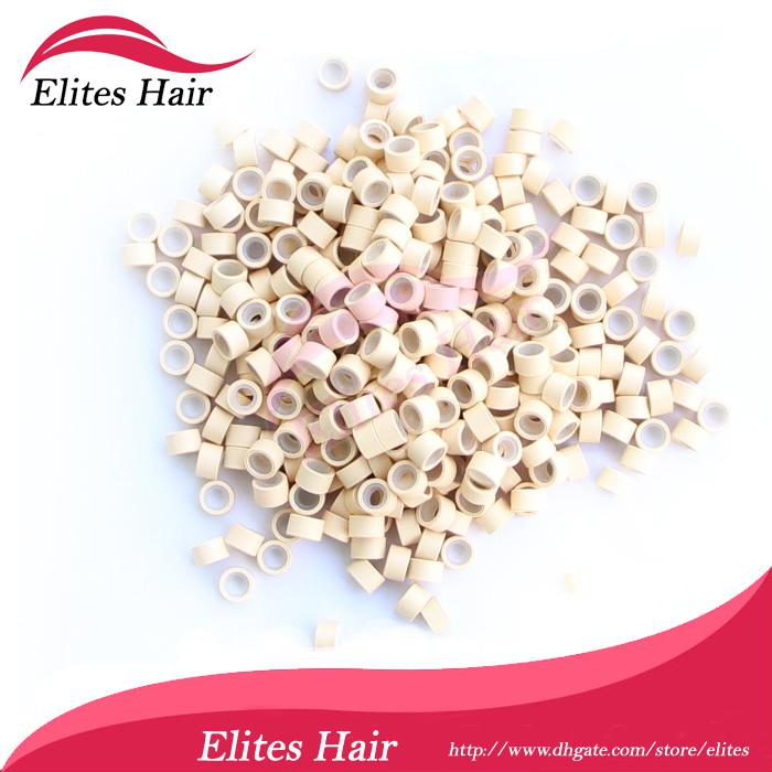 Queen Hair Mix color 5mm silicone micro rings Feather micro rings beads FEB001