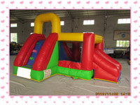 Wholesale Trampoline Jumping - Inflatable trampoline inflatable slide inflatable bouncer jumping bed trampoline indoor toy with air blower for free shipping
