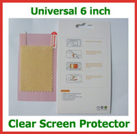 Wholesale Grid Guard - 500pcs Retail Package Universal Ultra Clear Screen Protector 6 inch Guard Film with Grid Size 129x73mm for Camera Mobile Phone MP3 MP4