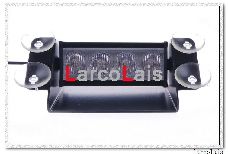 4 LED High Power Strobe Lights met zuignappen Brandweermachines Knippert Noodwagen Truck Light
