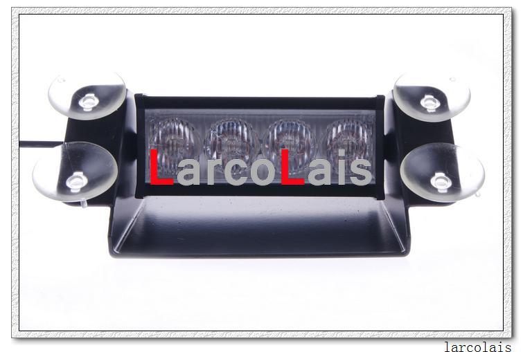 흡입 컵으로 4 LED 높은 전원 스트로브 조명 소방 관 깜박 긴급 자동차 트럭 빛