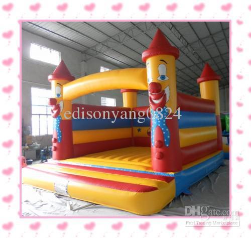 Gratis frakt Uppblåsbara Clown Design Bouncy Castle / Trampoline / Bouncy House med luftblåsare för gratis frakt