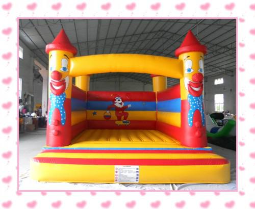 top popular Free Shipping inflatable clown design bouncy castle trampoline bouncy house with air blower for free shipping 2021