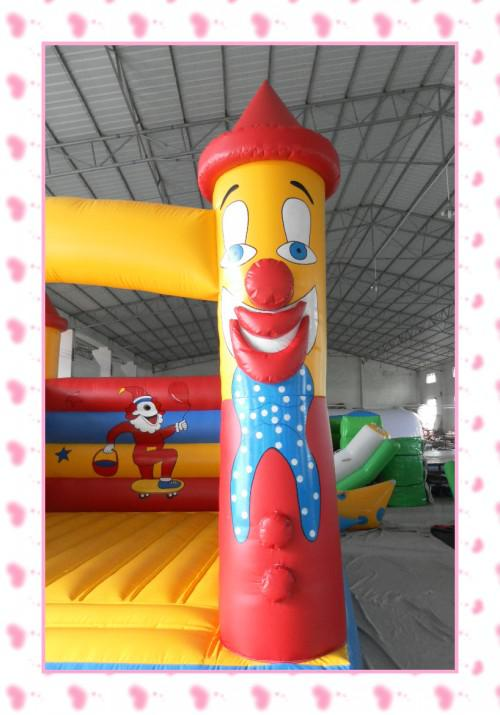 inflatable clown design bouncy castle/trampoline/bouncy house with air blower for