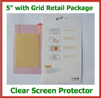Wholesale Phone Guards - 10pcs Universal 5 inch CLEAR Screen Protector with Grid Guard Film Size 115x65mm for Mobile Phone GPS MP4 Camera