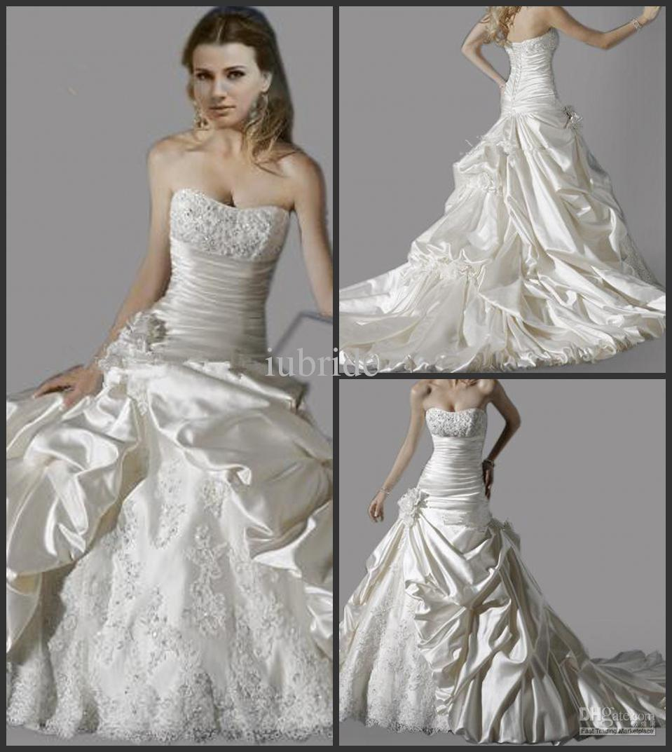2015 Cheapest Price Wedding Dress Beads Sequin Strapless