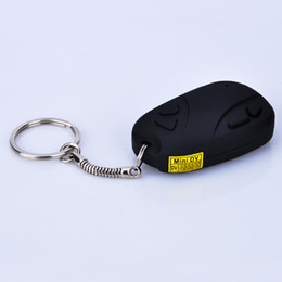 Wholesale Mini Keychain Digital Camera - Wholesale - - MINI SPY CAR KEY HIDDEN CAMERA 808 KeyChain Digital CAM Chain DV DVR WebCam Camcorder Video Recorder free shipping with tracki
