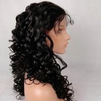 Wholesale Beautiful European Hair Wigs - 10''-24'' Beautiful Curly European Virgin Full Lace Human Hair Wigs natural color