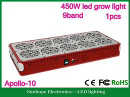 Wholesale Apollo Grow - 9 bands 450W Apollo-10 LED grow light with optical lense,exellent performance for hydroponic or soiless culture,3 years warranty