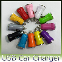 cargador del banco del poder del iphone 4s al por mayor-cargador de coche mini USB colorido para el iPhone 3GS 4G 4S 5 para MP3 MP4 HTC Samsung S3 S4 N7100 200pcs FEDEX