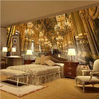 wandgemälde wohnzimmer großhandel-kann angepasst werden großformatige wandbild 3d wallpaper wand papier schlafzimmer wohnzimmer tv hintergrund der europäischen klassischen palast prächtige kirche