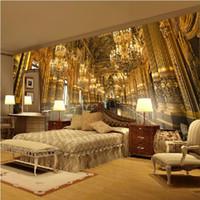 telones de fondo grandes al por mayor-se puede personalizar a gran escala mural pared de papel tapiz 3d Papel dormitorio sala de estar TV telón de fondo de palacio clásico europeo iglesia magnífica