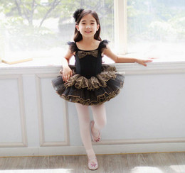 Wholesale Skirts Formal Dance - Girls ballet Dancing skirt Costumes baby girl Pettiskirt Petti Tutu Dress Pleated skirt Cascading Gauze princess skirt bowknot formal dress