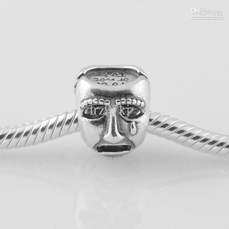 Authentische S925 gestempelt Sterling Silber Theater Drama Maske Charm Bead passt europäischen Pandora Schmuck Armbänder Halsketten
