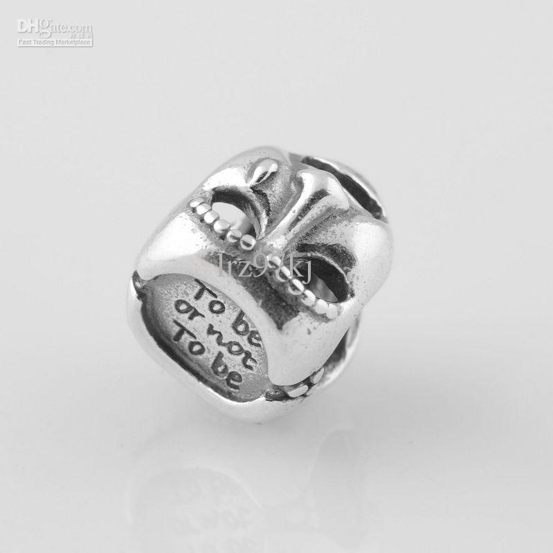 أصيلة S925 ختمها مسرح الفضة الاسترليني الدراما قناع سحر الخرزة يناسب الأوروبي باندورا مجوهرات أساور القلائد