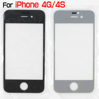 передняя крышка для iphone 4s оптовых-Качество для iPhone 4 4S 4G 4-й стеклянный объектив передний внешний экран Digitizer сенсорная панель крышка экрана для iPhone4 4s