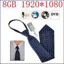 Wholesale Spy Necktie Camera - Free shipping 1920*1080P HD Spy Tie Camera, 8GB Built-in Hidden Spy Camera Tie Necktie Video Camera with Remote control