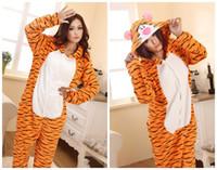 Wholesale Tiger Japanese - Adult Kigurumi Animal tiger sleepsuit Pajamas Costume Cosplay onesie