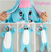 Wholesale Kigurumi Elephant Onesie - Adult Kigurumi Animal Elephant Sleepwear Pajamas Costume onesie Cosplay