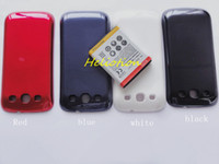 Wholesale Extended Battery Case For S3 - 100pcs High Quality 4500mAh Extended Battery with Back Cover Case for Samsung Galaxy S3 GT-i9300 i747 i535 Free shipping