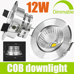 Wholesale 12w Led Downlight Inch - Christmas Sale-20% OFF-COB 12W 1*12W Tiltable LED Downlight 4.5 inch Fixture Ceiling Lights Warm Cool White Decorate Recessed Lamps Freeship
