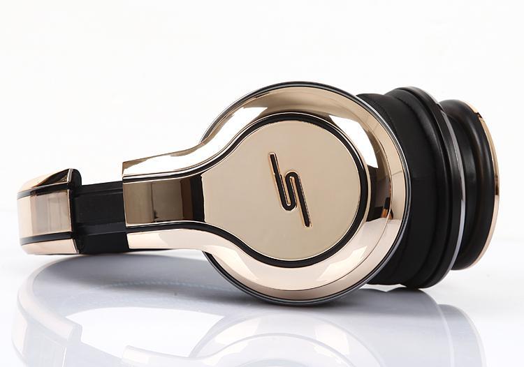 50 Cent Headphones SMS Audio Limited Edition Gold Plated Street On-Ear DJ Headsets Snabbt skepp via DHL-prover
