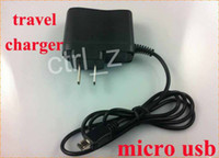 Wholesale Travel Charger Galaxy S2 - 1000MAH Micro USB V8 AC Wall Travel Charger with cable for smartphone android For Samsung Galaxy S2 i9100 i9300 i9500 S3 S4 EU US Plug 1A