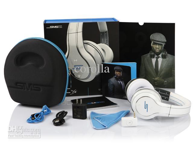 50 Cent Auriculares SMS Audio Edición limitada blanco negro y plateado Inalámbricos Auriculares para DJ en la oreja super Un envío rápido a través del mejor precio de fábrica de DHL