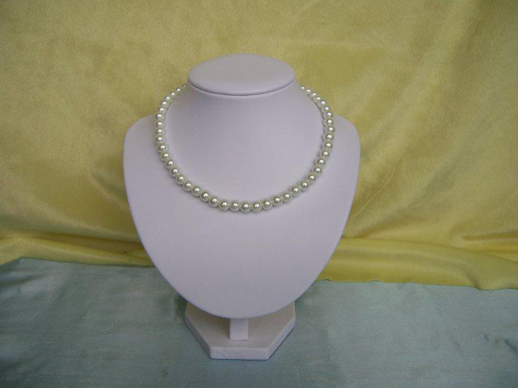 Förderung Schmuckständer Halskette Halter Qualität Medium PU Kunstleder Porträt Schaufensterpuppen Büste Modell Kostenloser Versand