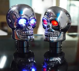 top popular 1pc universal SKULL STICK SHIFT KNOB Gear NEW Skeleton Goth Lever Car Truck Biker 2021